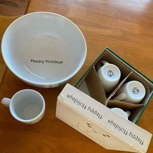 BIA Bowl and Mug Set Christmas Theme